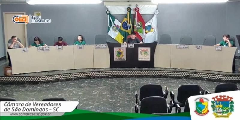 Vereadores jovens reuniram-se nessa sexta-feira, dia 25, para a Quinta Sessão dos vereadores jovens 2019/2020